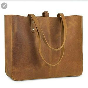 BNWT S-ZONE Genuine Leather Shoulder Bag